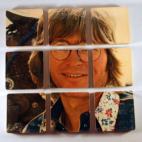 JOHN DENVER Wind Song Record Album Music Coasters with Record Bowl