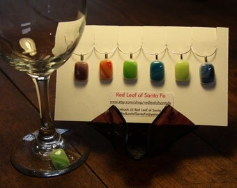 Opal Art Glass Wine Charms