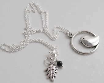 Sweetly Minimal Silver Bird Necklace | Cute Silver Bird Charm Necklace | Animal Jewelry | SALE