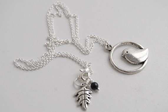 Sweetly Minimal Silver Bird Necklace -SALE-