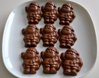 Santa Chocolate Christmas Candy 24 Pieces