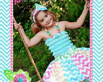 Toddler Skirt - Chevron Skirt - Rainbow Skirt