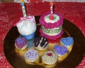 felt and crocheted birthday princess set