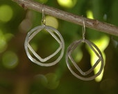 Square Peg Round Hole - Hoopty Doo Earrings Sterling