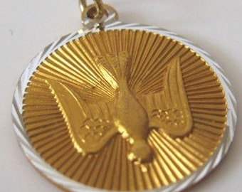 Holy Catholicism / Christianity Gold Confirmation Medal Pendant