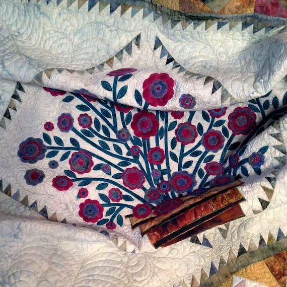 Quilt Made to Order Traditional Virginia Rose Basket Appliqués