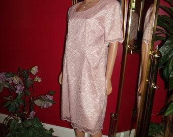 Vintage Lace  Dress Flapper  does 20-30s  Tea Party Wedding Size 16