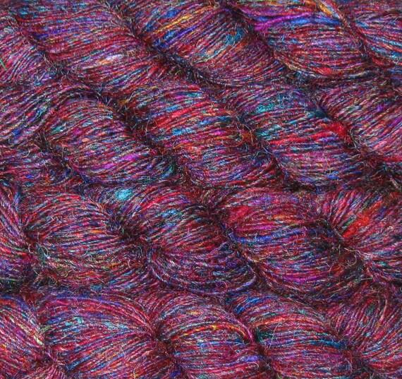 620 yards Sari Silk Yarn, Recycled SUPER PREMIUM Handspun, Fair Trade, 14 oz, 400 grams