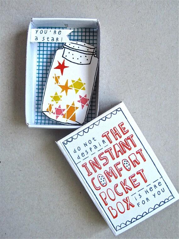 The Instant Comfort Pocket Box  - Stars in a jar 'grey star'