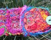 Peace Recycled Sari Silk Fiber Cuff Tattoo Cover Bracelet CarlaAlexander