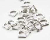 30pcs Oxidized Silver Tone Base Metal Bead Frame 11mm (10939Y-P-101A)