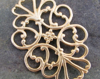Filigree Backing for Typerwriter key jewelry 1392 - 6 pieces