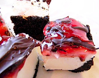 Julie's Fudge - Chocolate Covered Cherry CHEESECAKE With Oreo Crust - Over One Pound
