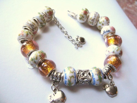 Prince Charming No. 11 ... a charm bracelet with large holed beads ... #264