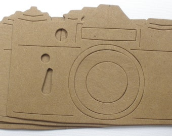 ANTiQUE CAMERA - CHiPBOARD Die Cuts - Vintage Craft Shapes