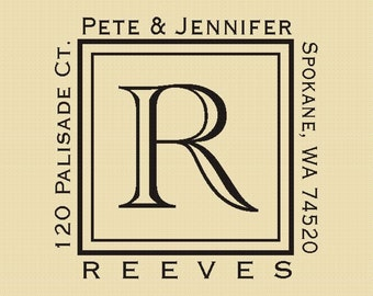 Custom Rubber Stamps Peter and Jennifer Design R023