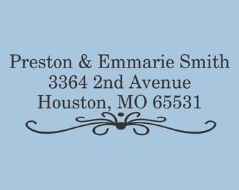 Preston and Emmarie Smith Custom Self Inking Stamp Design 200-022