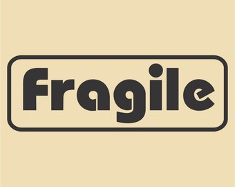 Fragile Ready to Ship Rubber Stamp Design RTS 002