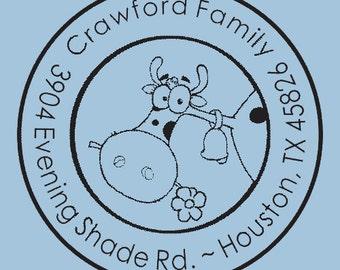 Unique Custom Self Inking Return Address Stamp Crawford Family Design R400-011