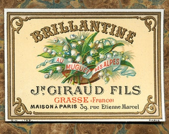 Antique Vintage French Apothecary Perfume Label 17