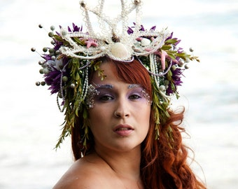 Pearl Sea Nymph Mermaid Headdress