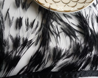 VOGUE OSTRICH Feather Fringe / Burnt Black  /  304