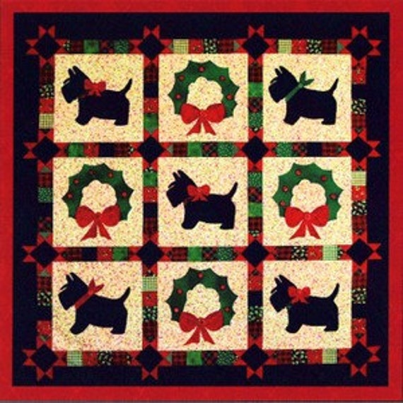 PATTERN It's A SCOTTIE DOG Merry Christmas Quilt Scottie : scottie dog quilt pattern - Adamdwight.com