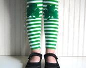 Shamrock Leggings St Patrick's Day - Girls Sizes 12-18 mos, 2 / 3T, 4 / 5, 6 / 7, 8, 10 - by The Trendy Tot