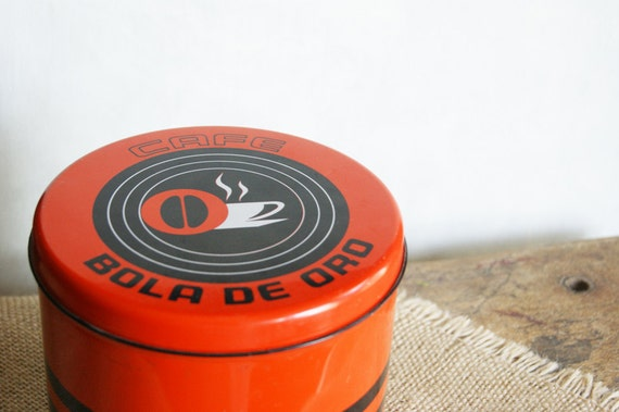 Coffee Canister Tin for Bola De Oro Cafe