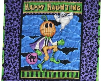Halloween , Wall Quilt , Trick or Treating , Jack o Lantern , Quilt