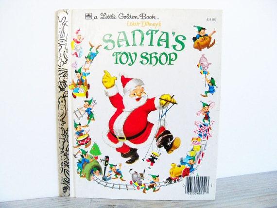 Little Golden Book Santas Toy Shop Walt Disney Christmas 1950 K No 45108