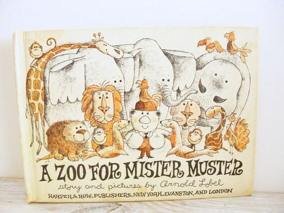 Zoo for Mister Muster Arnold Lobel 1962 Harper Row