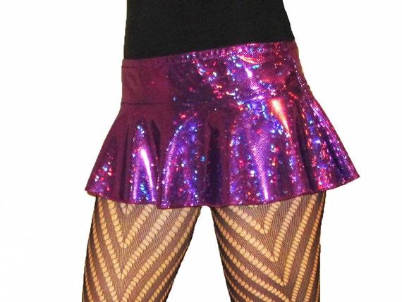 Micro MIni Skirt Shiny Sparkles Rave Poller Derby