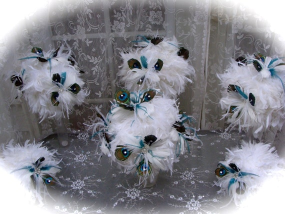 Feather Bouquet and Wedding Party Package for Lauren - FINAL PAYMENT LISTING