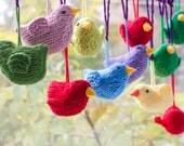 Bird Decoration,  Easter  Decor, Stuffed Toys, Hand Knit Bird Toy, Easter Ornament, Bird Amigurumi