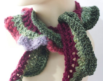 Ruffled Scarf for Women,   Multi Color Ruffle Scarf, Boho Scarf , Women's Accessories, Ready to Ship
