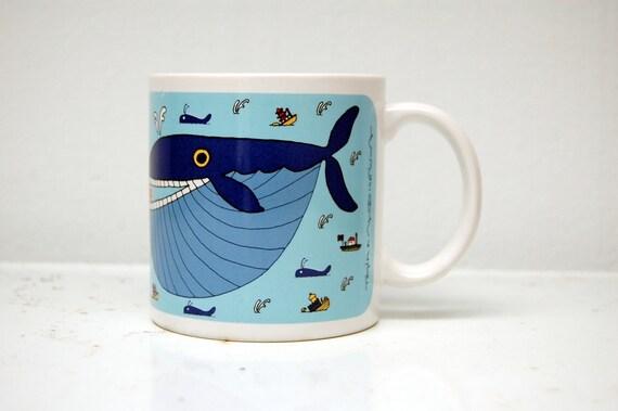 Taylor & Ng Whopper Whale Mug Blue 1981 Win Ng