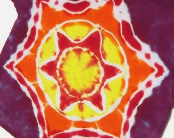 Bright Star Mandala Tie Dye T-Shirt  Size 2