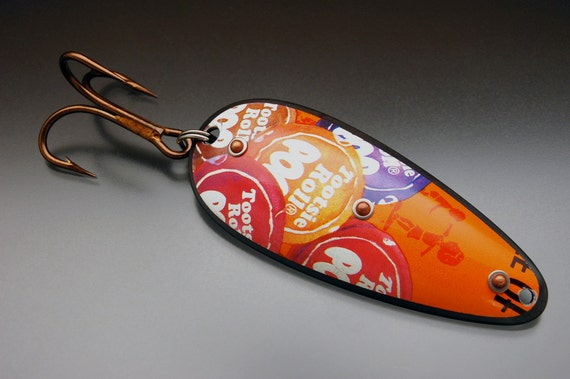 Tootsie Pop Wrapper Fishing Lure Large Original Recyclure Artistic Fishing Spoon