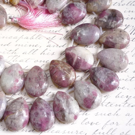 Rare Lavender Ruby Zoisite Briolette Beads Video On Facebook