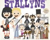 Wyld Stallyns - 12.5 X 12.5 PRINT