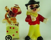 Organ Grinder and Monkey Salt and Pepper Shakers