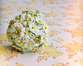 Mint Creme forget me nots Vintage style Millinery Flower Bouquet - for decorating, gift wrapping, weddings, party supply, holiday