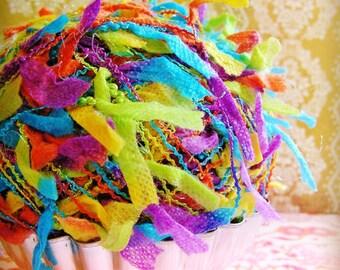 Rainbow Flag Ribbon bunting Garland / Trim - luxe novelty party wedding embellishment holiday craft decor supply - 5 yards