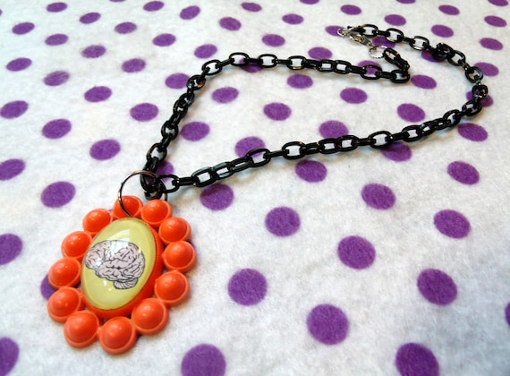 Atomic Brain Zombie Necklace
