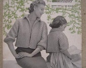1954 Sweaters Bernat Handicrafter Jumbo Knits for the Family Book No. 41