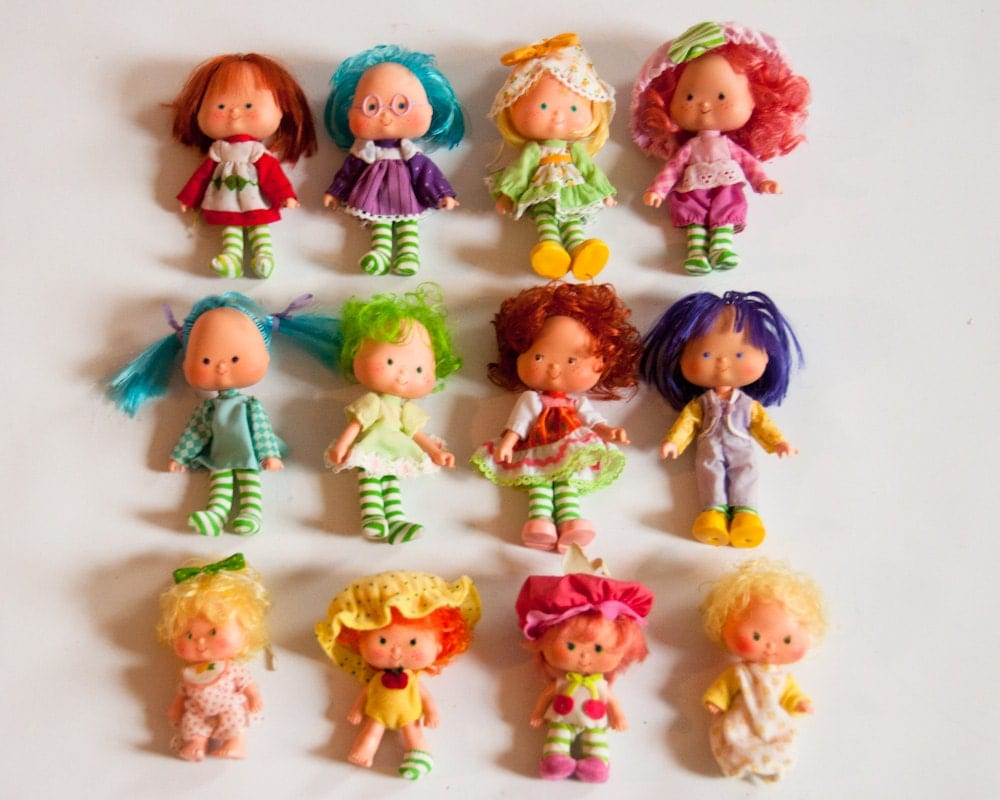 12 Vintage 1970s Strawberry Shortcake Dolls Instant Collection