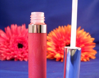 Watermelon Coral Pink Goddess Glaze(tm) ZOLA Mineral Lip Gloss  made with organic and natural ingredients