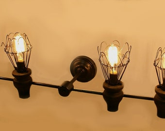 6 light vintage Inspired Industrial Wall Sconce