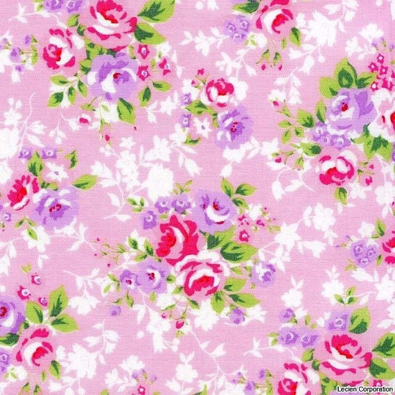 Flower Sugar 2012 by Lecien, Rose Bouquet, , Japanese Import Fabric, last 22 inches